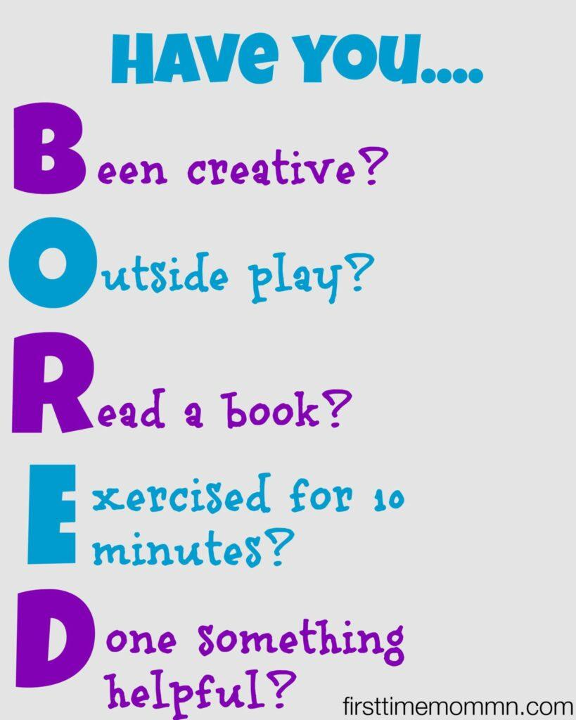 BORED Summer Printable