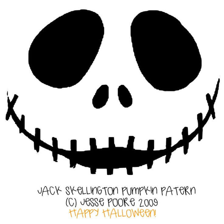 Jack Skellington Disney Pumpkin Carving Stencil