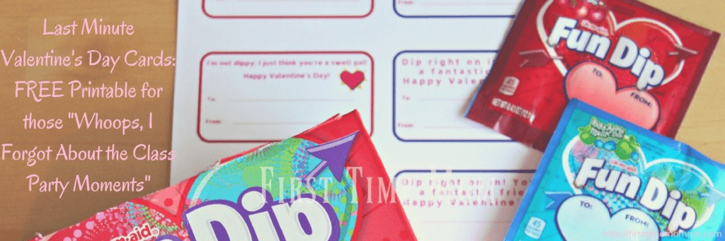 """Last Minute Valentine's Day Cards: FREE Printable for those """"Whoops, I Forgot About the Class Party Moments"""""""
