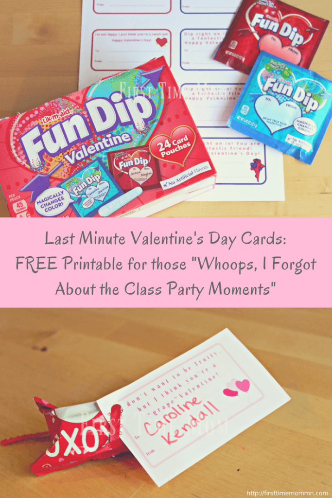 """Last Minute Valentine's Day Cards: FREE Printable for those """"Whoops, I Forgot About the Class Party"""" Moment"""