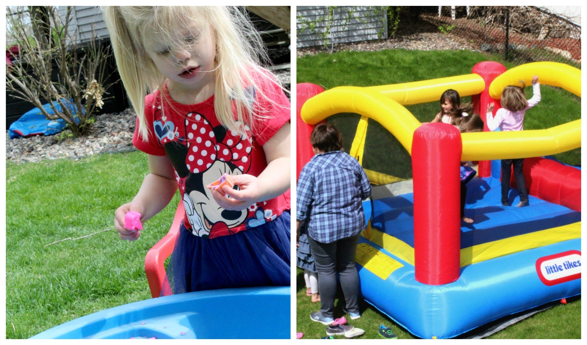 How to Throw a Disney Party with Minimal Crafting Skills Entertainment Bounce House and Kinetic Sand