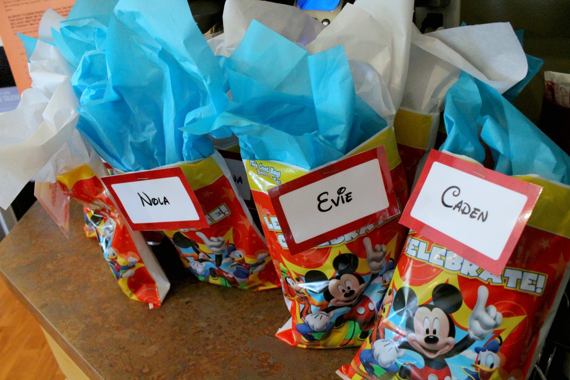 How to Throw a Disney Party with Minimal Crafting Skills. Goodie Bags