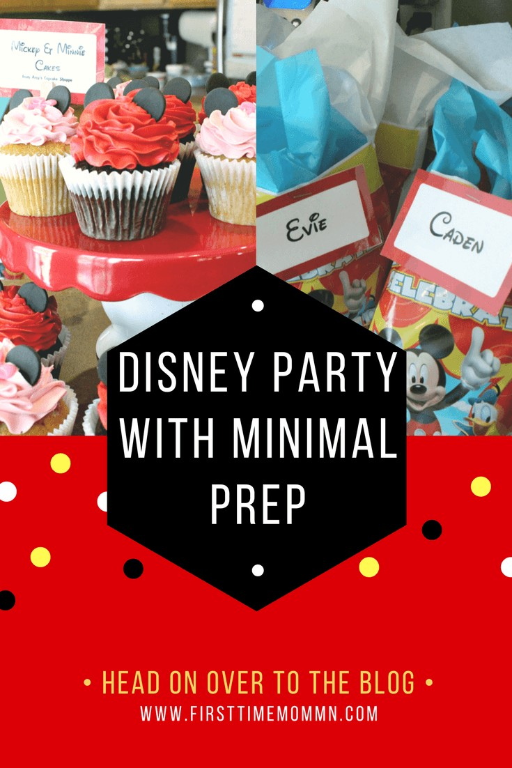 How to throw a Disney Party with minimal Prep. Pin now and use later.