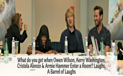 What do you get when Owen Wilson, Kerry Washington, Cristela Alonzo & Armie Hammer Enter a Room? Laughs, A Barrel of Laughs