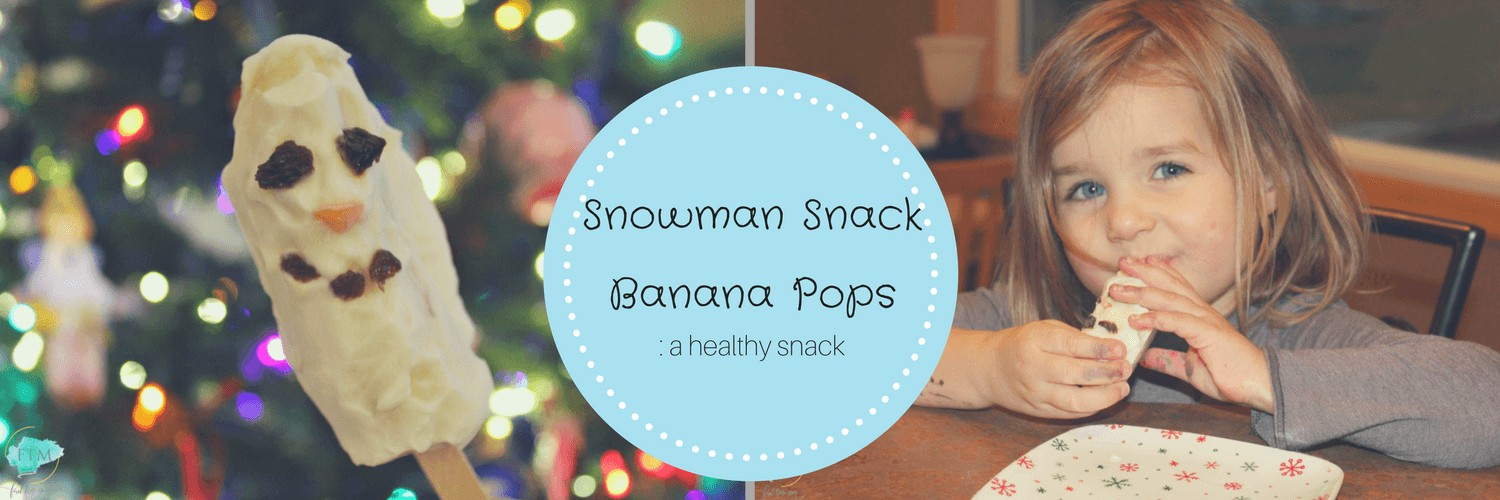 Snowman Snack Banana Pops _ a healthy snack