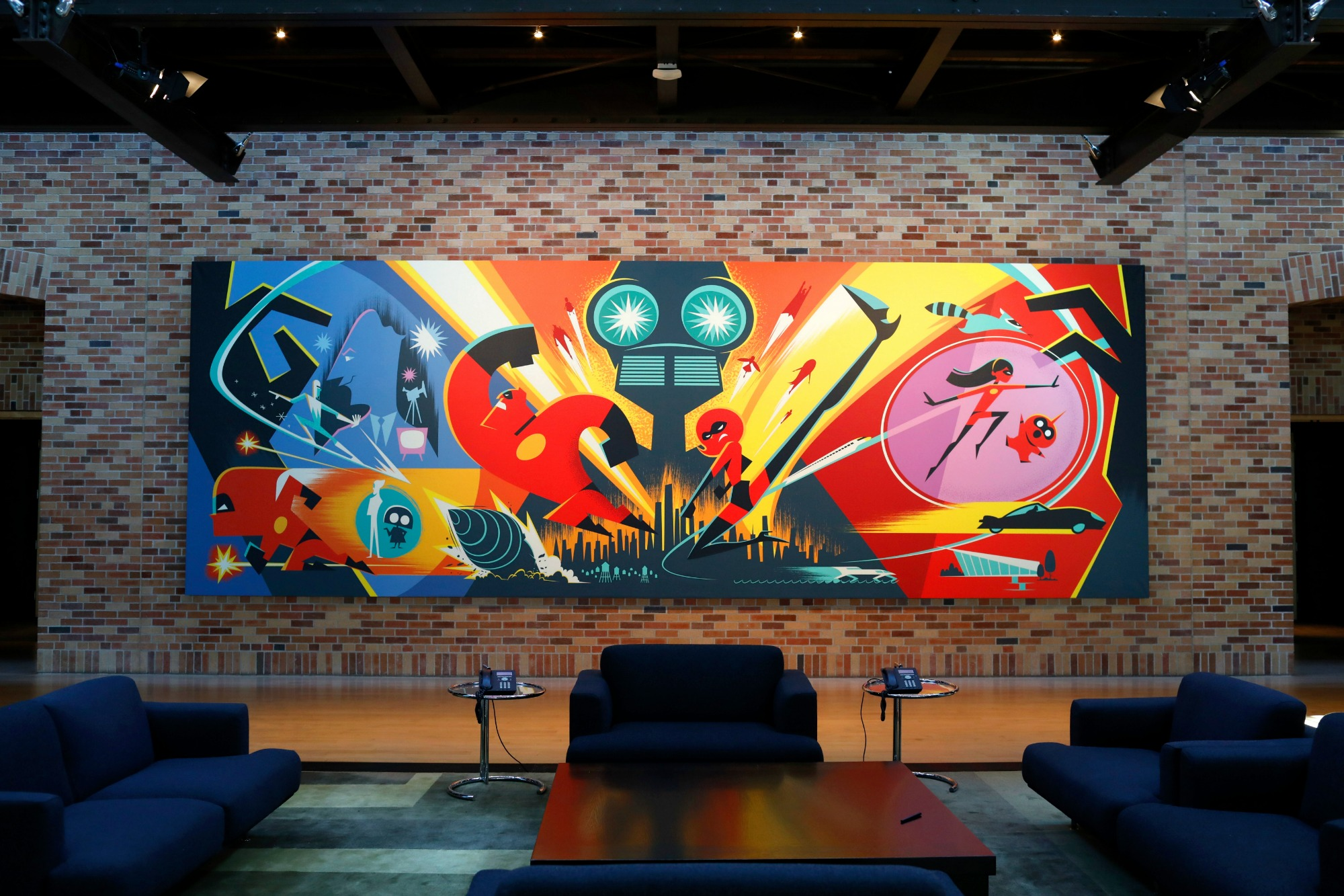 INCREDIBLES 2 Mural at Pixar Animation Studios