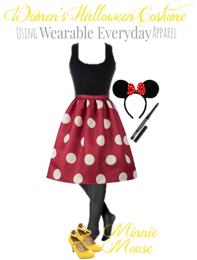 Minnie Mouse Halloween costume for mom