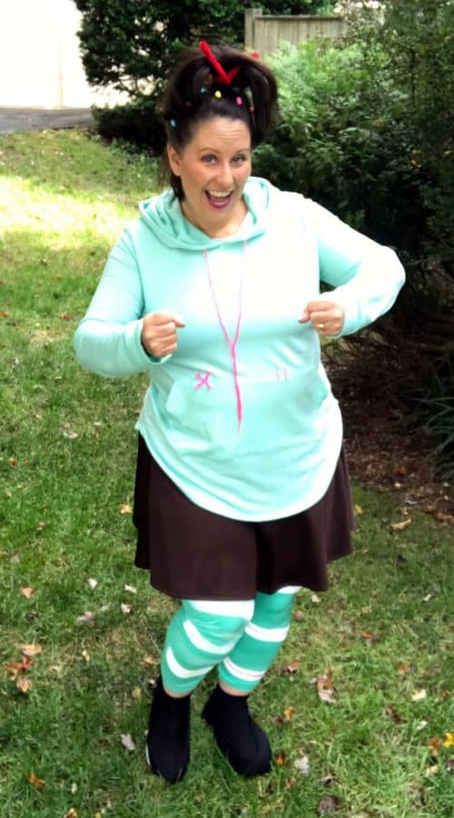 Wreck-It Ralph Vanellope Halloween Costume for mom