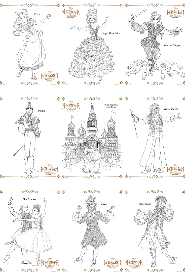 Disney's THE NUTCRACKER AND THE FOUR REALMS Coloring Pages