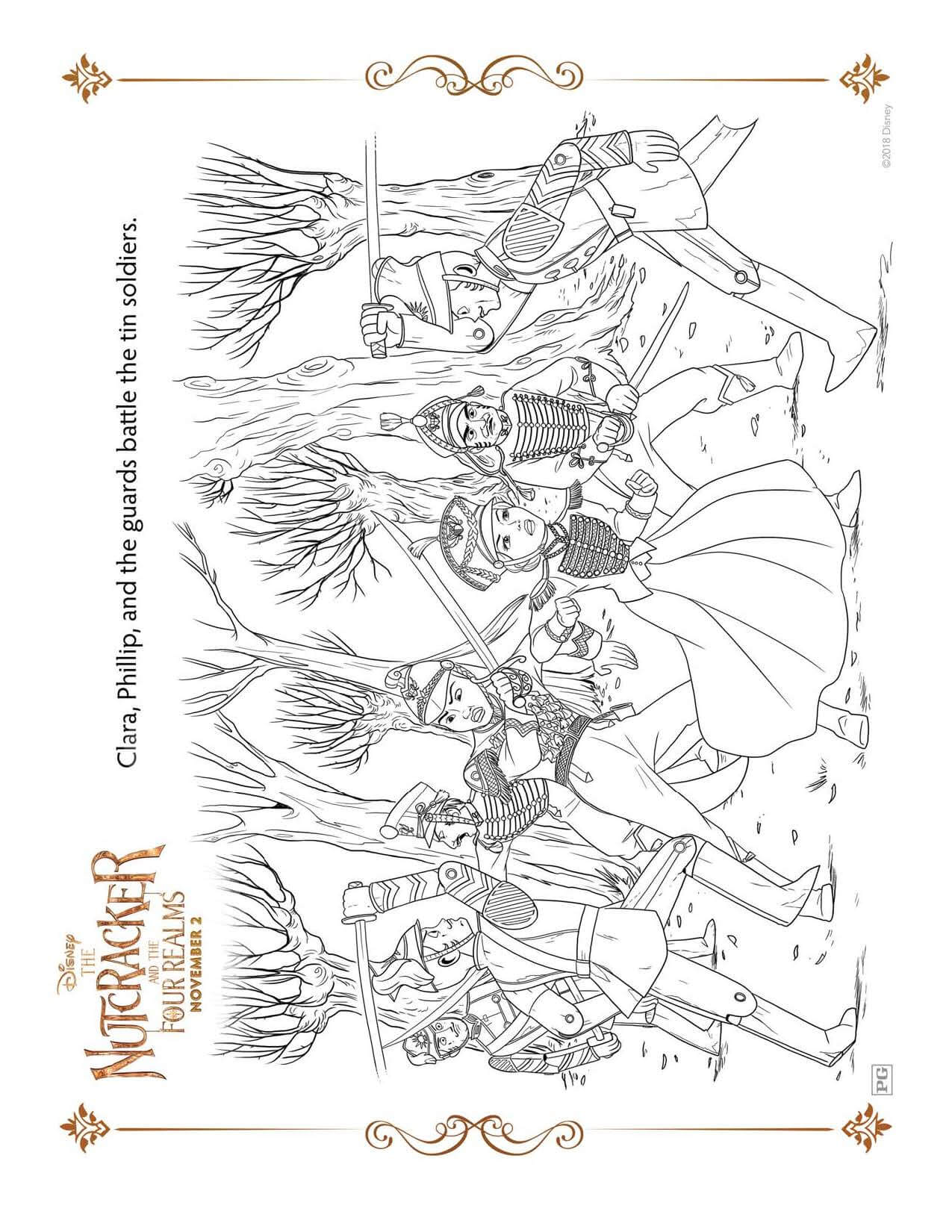 Coloring Sheet THE NUTCRACKER AND THE FOUR REALMS