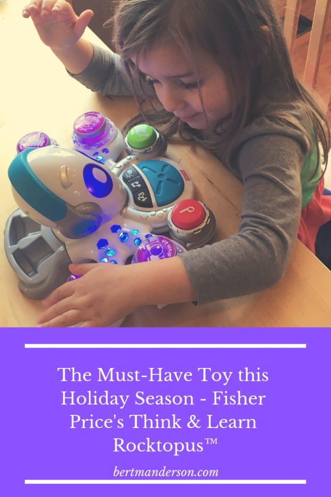 The Must-Have Toy this Holiday Season - Fisher Price's Think & Learn Rocktopus™. Music, Math and Game fun! Teach your child math and how to have a better attention span.