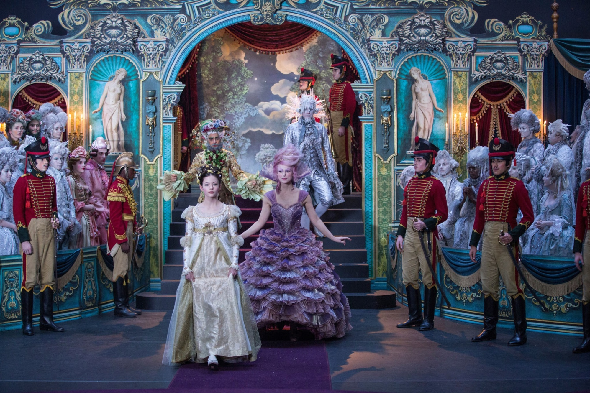 The Nutcracker and the Four Realms ballroom scene