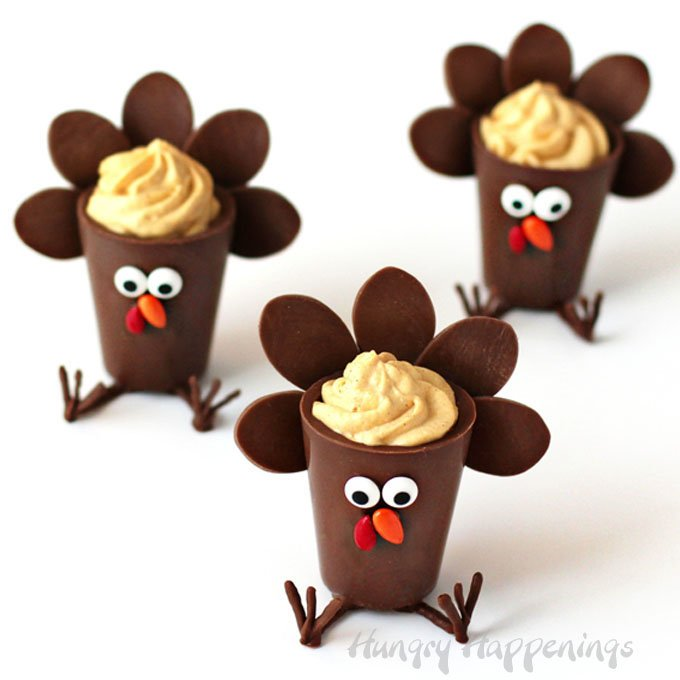Thanksgiving Chocolate Turkey Cups