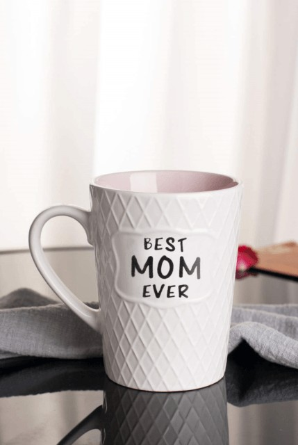 Best Mom coffee mug, textured