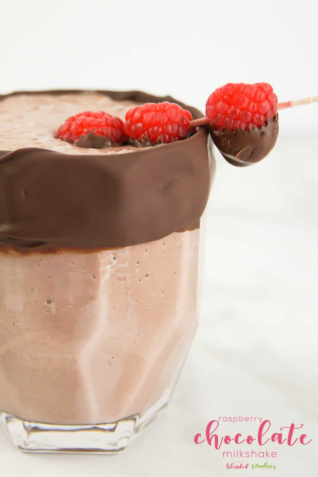 Raspberry Chocolate Milkshake non-alcoholic drinks