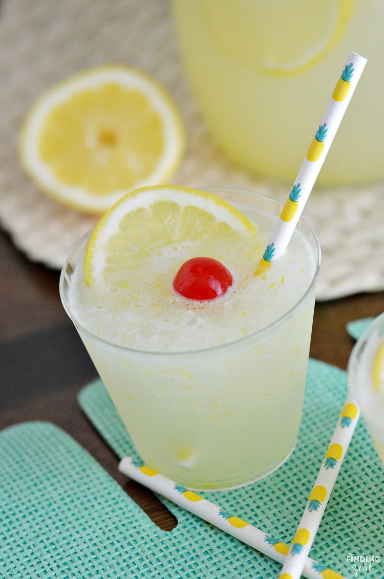 Frozen Lemonade summer drink recipe