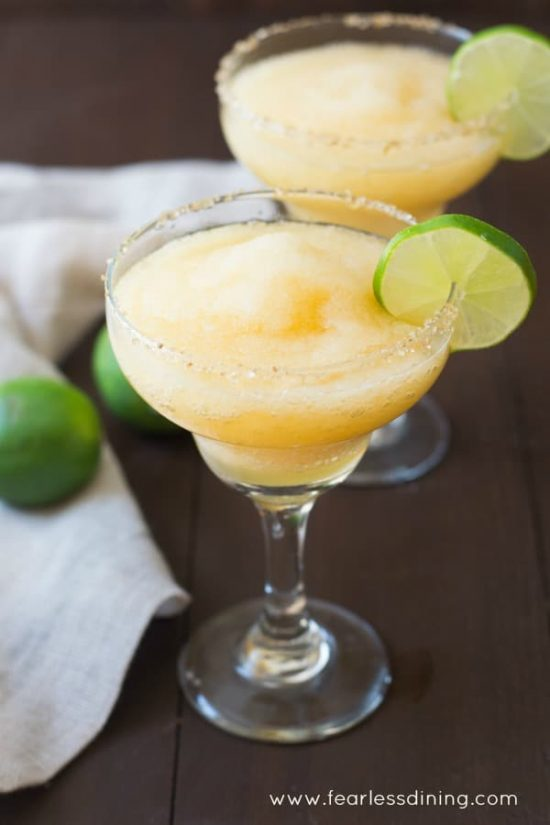Frozen Peach maragrita refreshing summer drink recipes