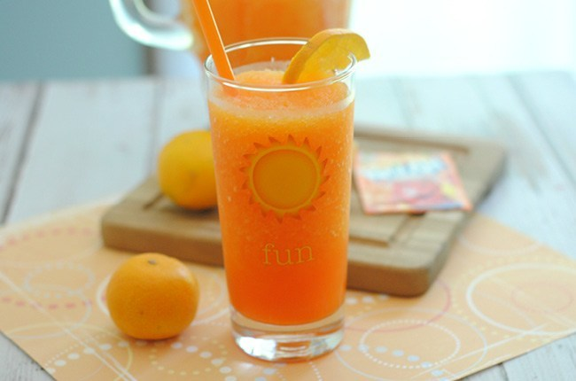 Kid-friendly Orange Slushie