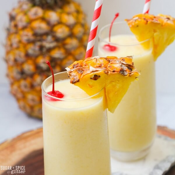 Pineapple whip cocktail summer frozen drinks