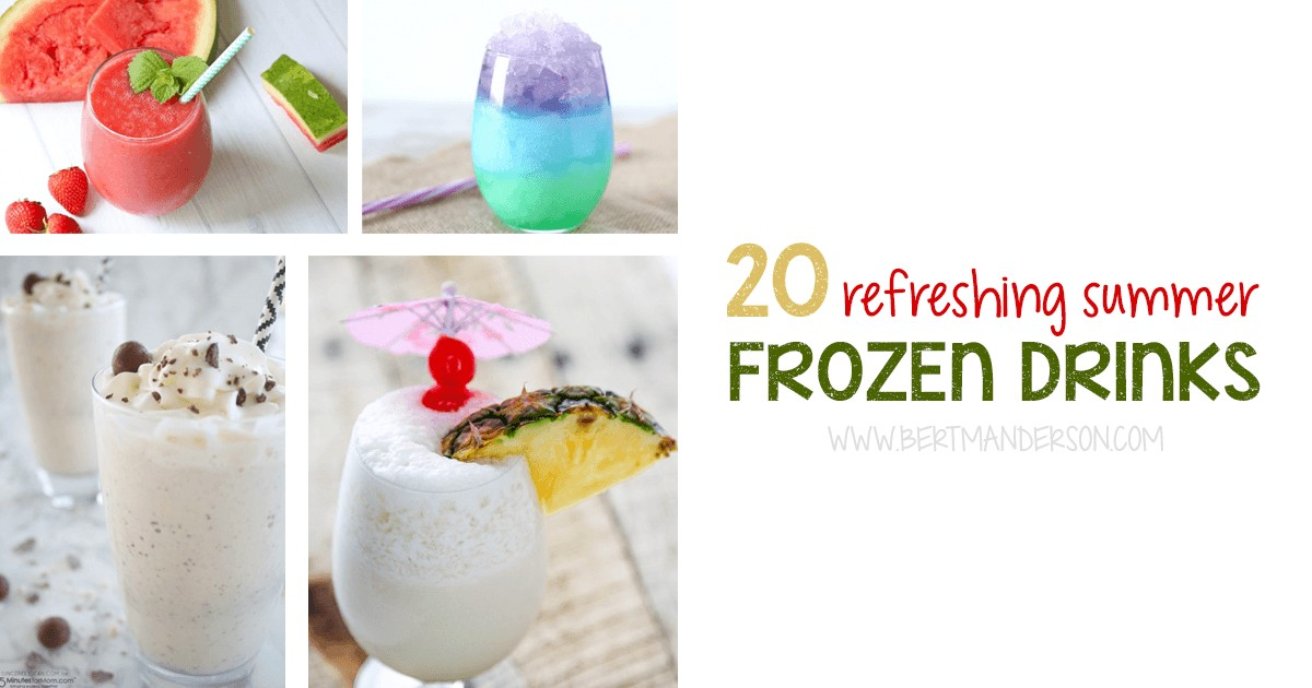 20 Summer Frozen Drinks
