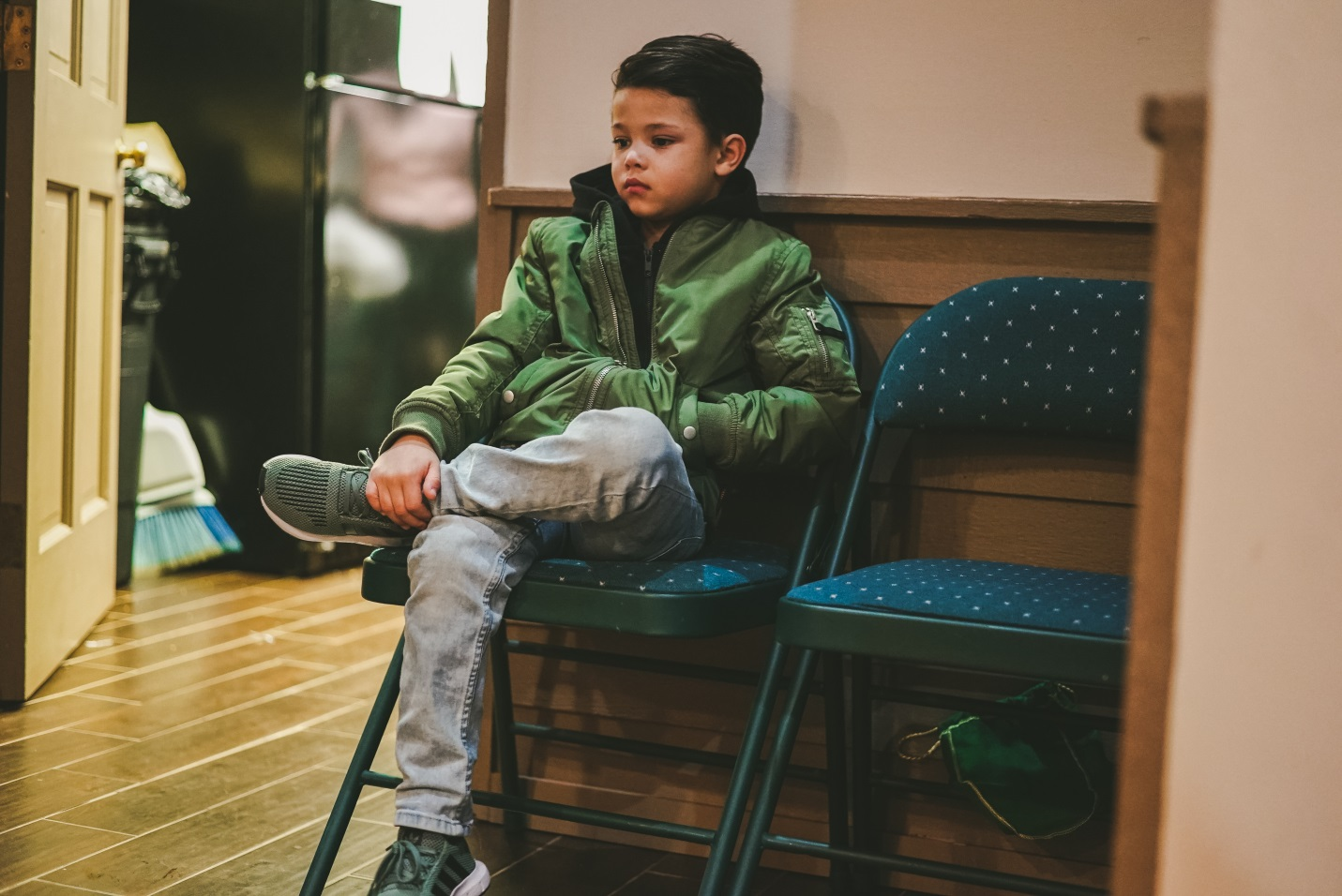 Boy in waiting room