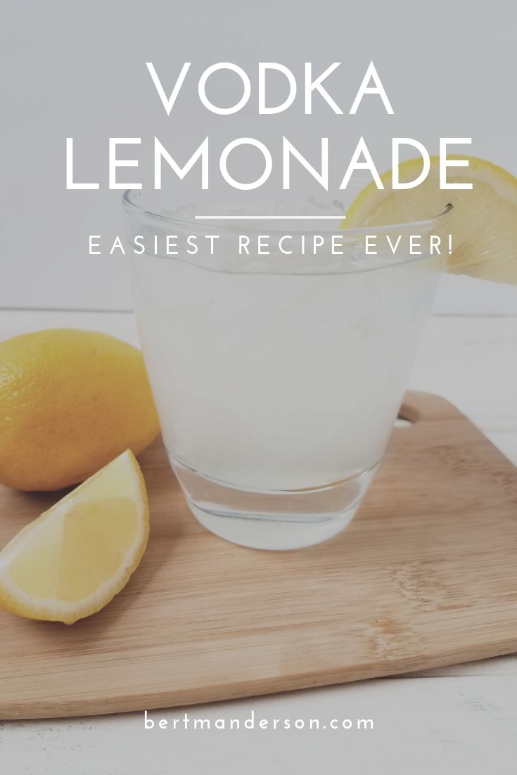 The easiest Vodka Lemonade recipe you'll ever make! Perfect for just one or can be altered to accommodate larger crowds. #adultbeverage #cocktails #lemonade #vodka