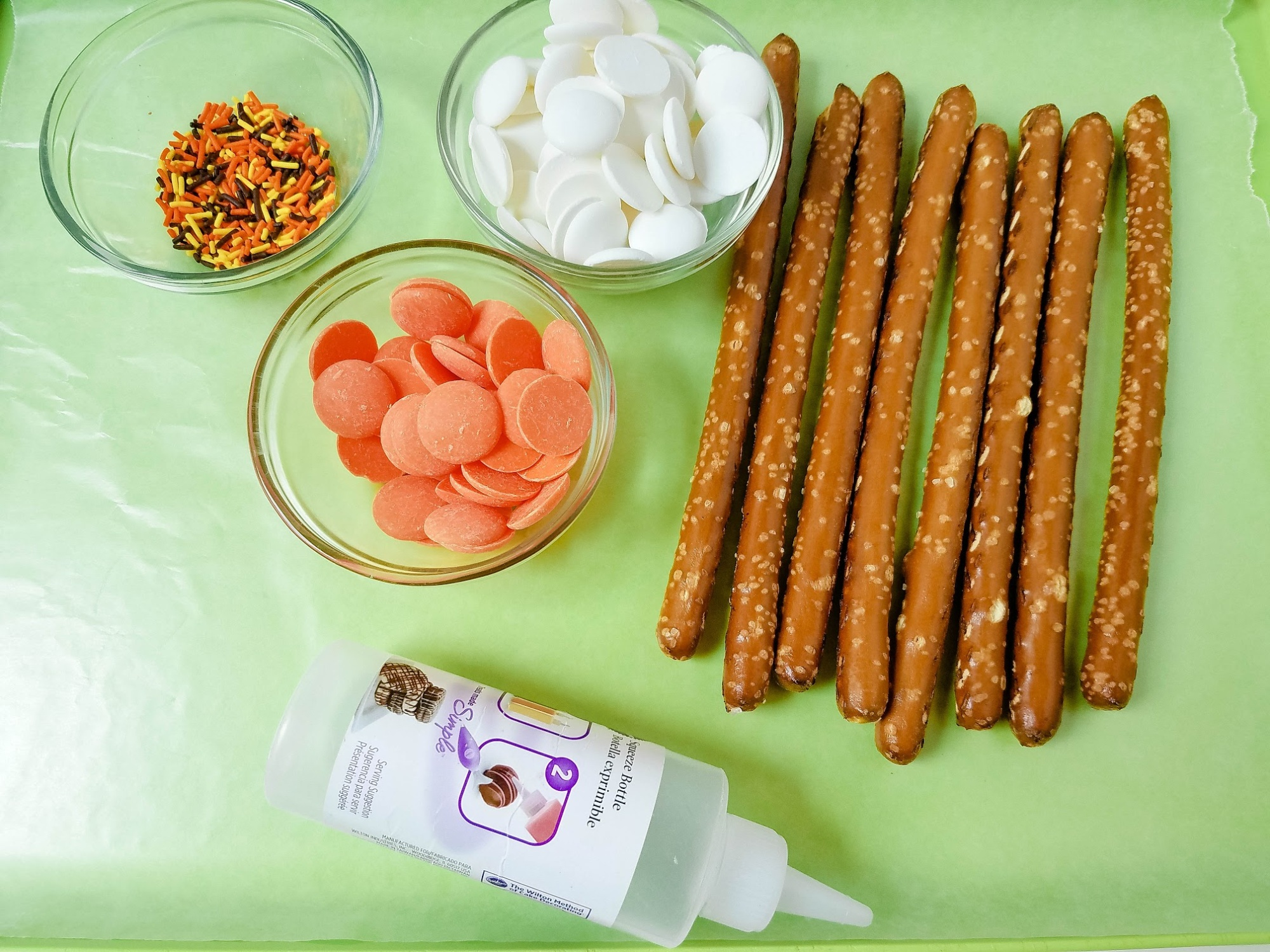 Ingredients for easy snack idea