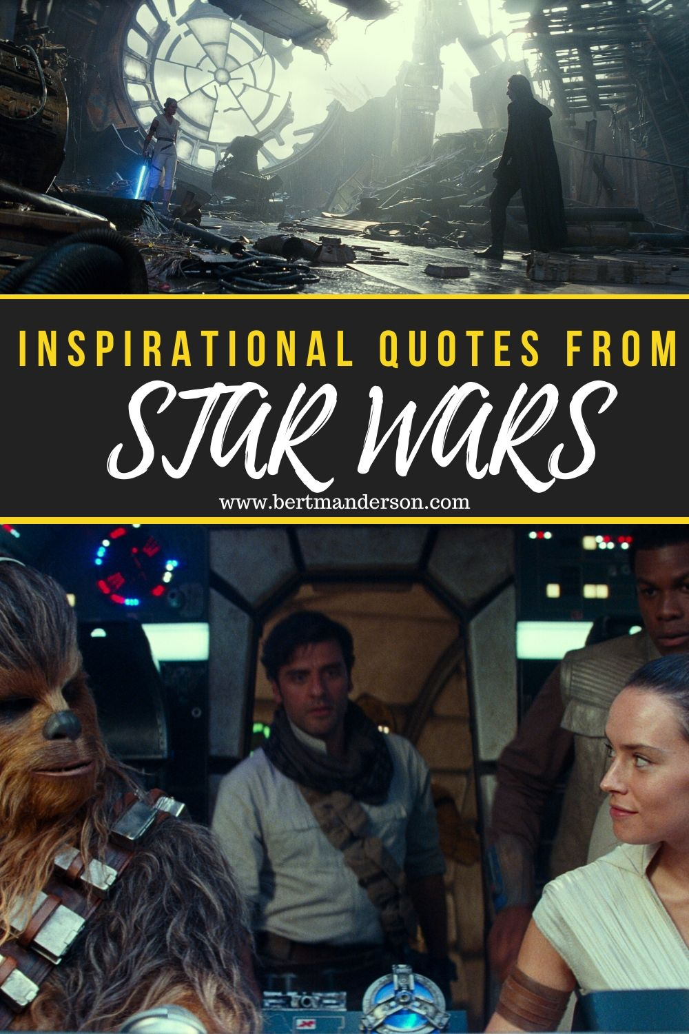 Inspirational quotes from every STAR WARS movie. #starwars #inspirationalqoutes #starwarsquotes #motivationalquotes